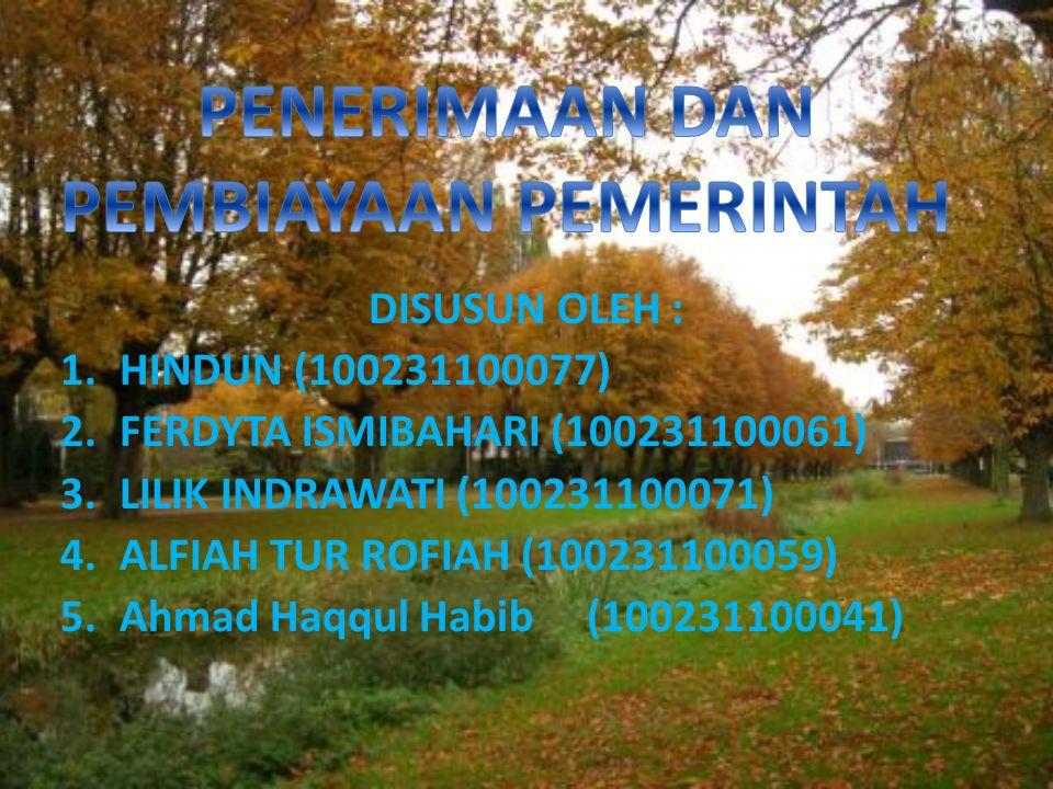 DISUSUN OLEH : 1.HINDUN (100231100077) 2.FERDYTA ISMIBAHARI (100231100061) 3.LILIK INDRAWATI (100231100071) 4.ALFIAH TUR ROFIAH (100231100059) 5.Ahmad Haqqul Habib (100231100041)