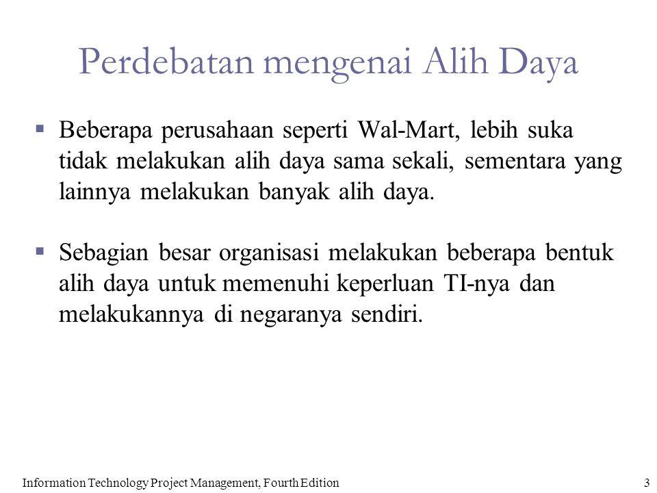 4Information Technology Project Management, Fourth Edition Mengapa Alih Daya.