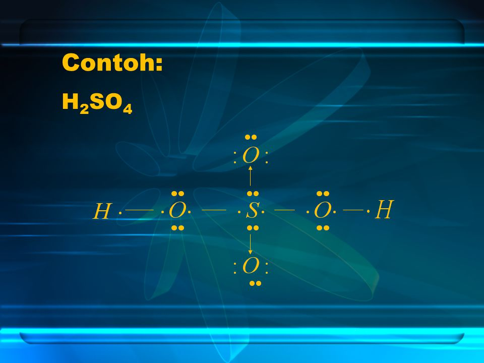 Contoh: H 2 SO 4