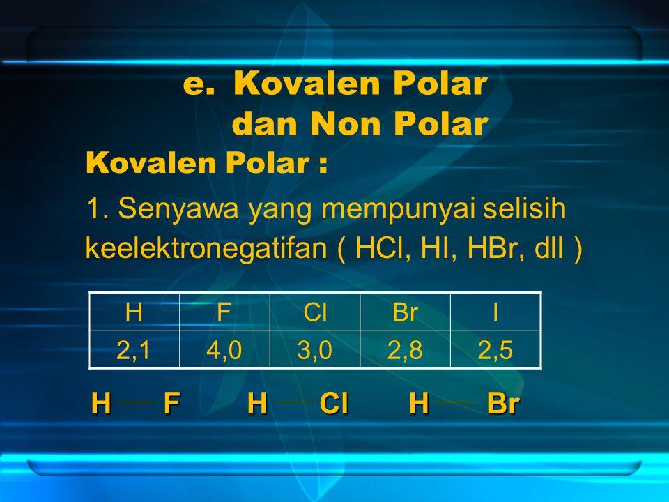 e.Kovalen Polar dan Non Polar 1.