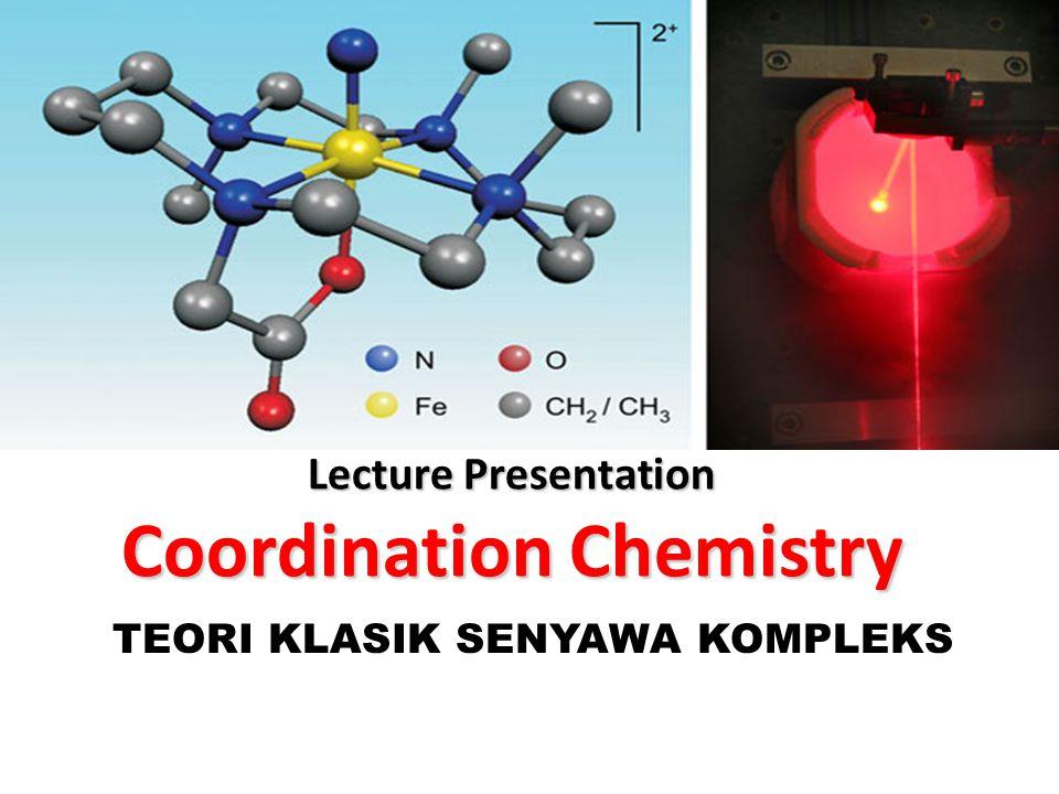 Lecture Presentation Coordination Chemistry TEORI KLASIK SENYAWA KOMPLEKS