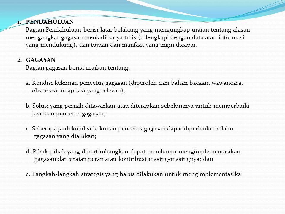Kota Terapung Masa Depan Dengan Pendekatan Konsep Desain Floating Ring Shaped Plate Sebagai Solusi Pemekaran Kota Surabaya (PIMNAS 2013, Medali emas, ITS) Gagasan Penambahan Wewenang Constitusional Complaint Dan Constitusional Question Kepada Mahkamah Konstitusi (Gagasan Dalam Rangka Mewujudkan Supreme Konstitusi Di Indonesia) (PIMNAS 2010) Inovasi Pipa Pori Resapan Untuk Penanggulangan Banjir Di Kawasan Perkotaan Padat Penduduk (PIMNAS 2010)