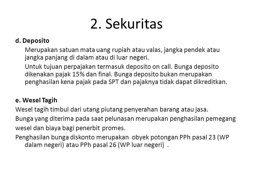 Contoh Kasus Wesel Tagih (Pendiskontoan, pajak atas bunga dipotong di muka oleh pembeli) Wesel milik PT.