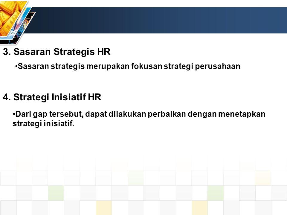 3. Sasaran Strategis HR Sasaran strategis merupakan fokusan strategi perusahaan 4.