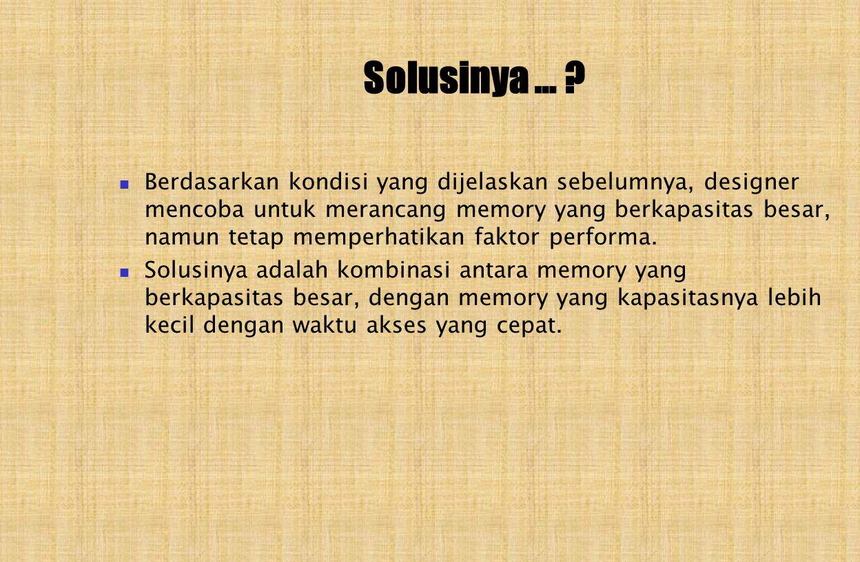Solusinya … .