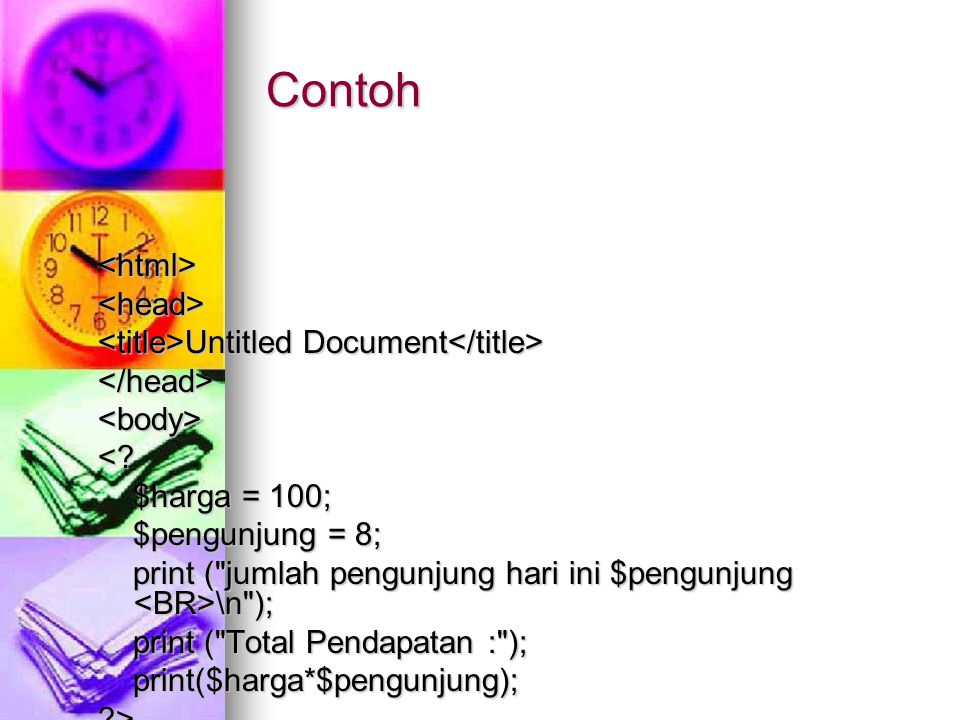 Contoh <html><head> Untitled Document Untitled Document </head><body><.