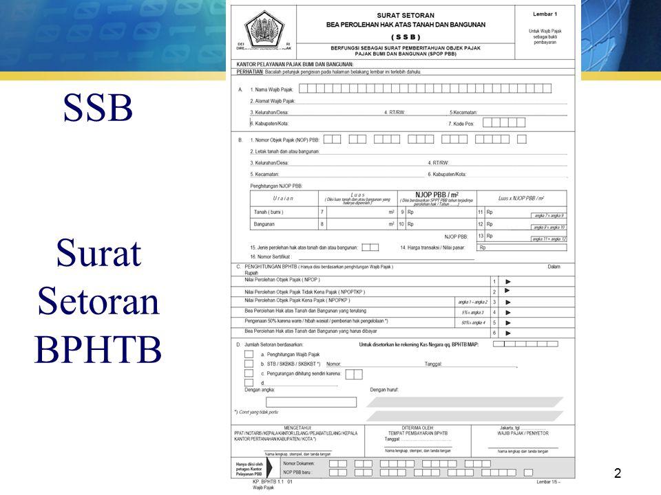 surat setoran BPHTB