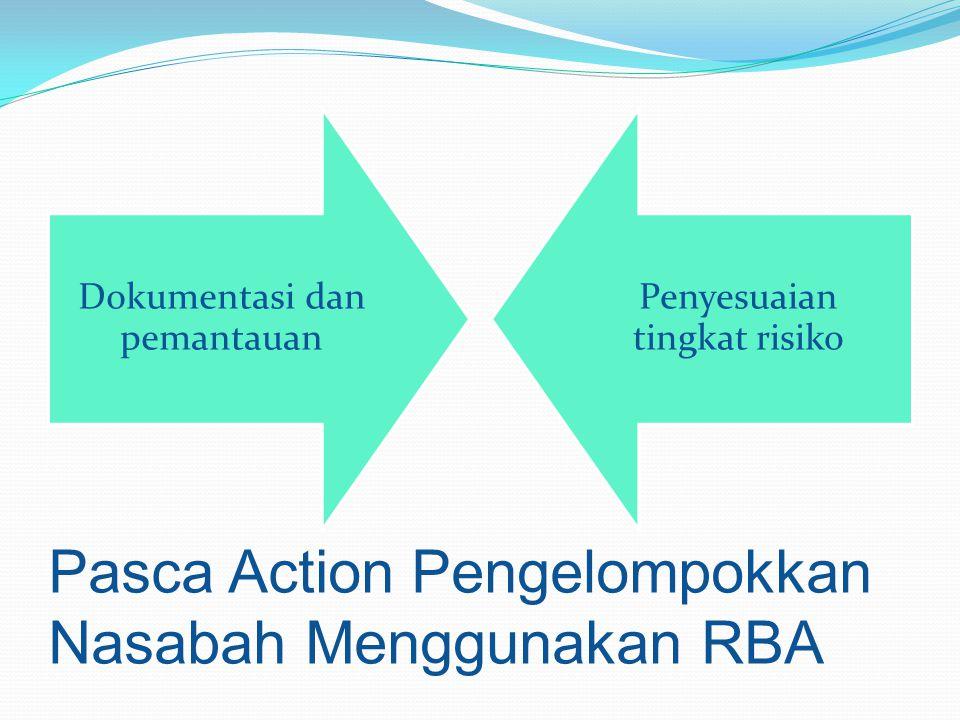 Pasca Action Pengelompokkan Nasabah Menggunakan RBA Dokumentasi dan pemantauan Penyesuaian tingkat risiko