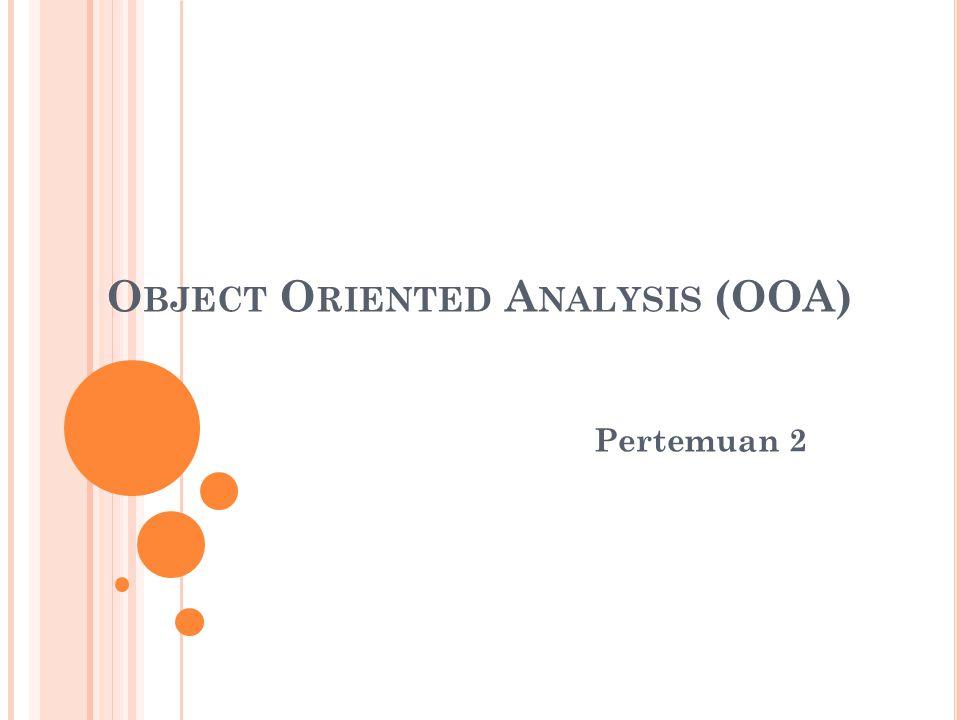 Memahami Proses Bisnis  Identifikasi Skenario  Memilih kelas dan Obyek  Identifikasi Atribut dan Operasi  Identifikasi Struktur dan Hirarki  Object Behavior Model