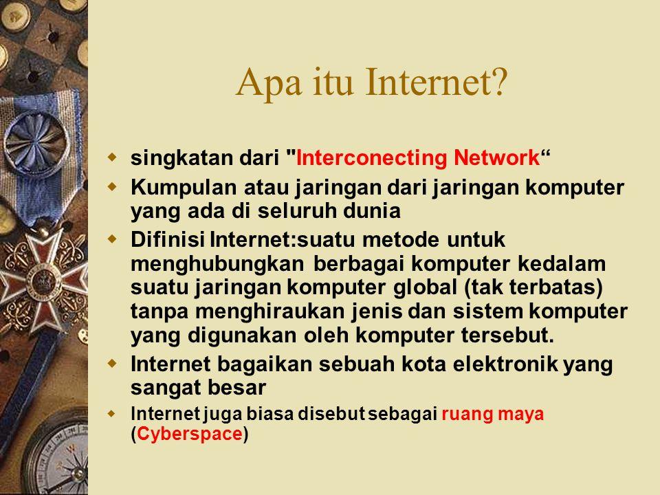 Apa itu Internet?  singkatan dari