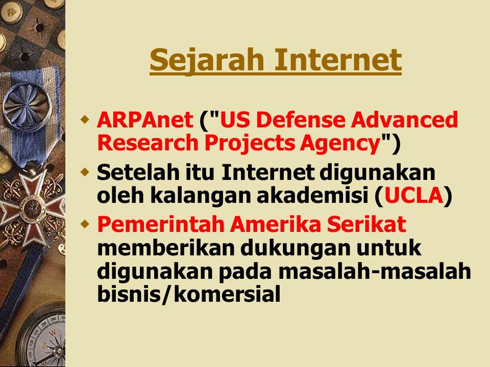 Sejarah Internet  ARPAnet (