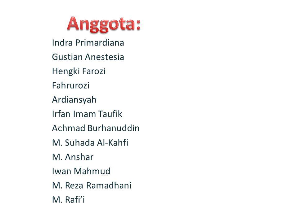 Indra Primardiana Gustian Anestesia Hengki Farozi Fahrurozi Ardiansyah Irfan Imam Taufik Achmad Burhanuddin M.