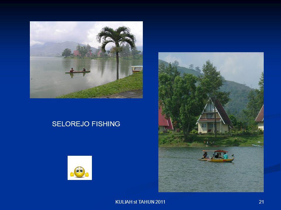 21KULIAH st TAHUN 2011 SELOREJO FISHING