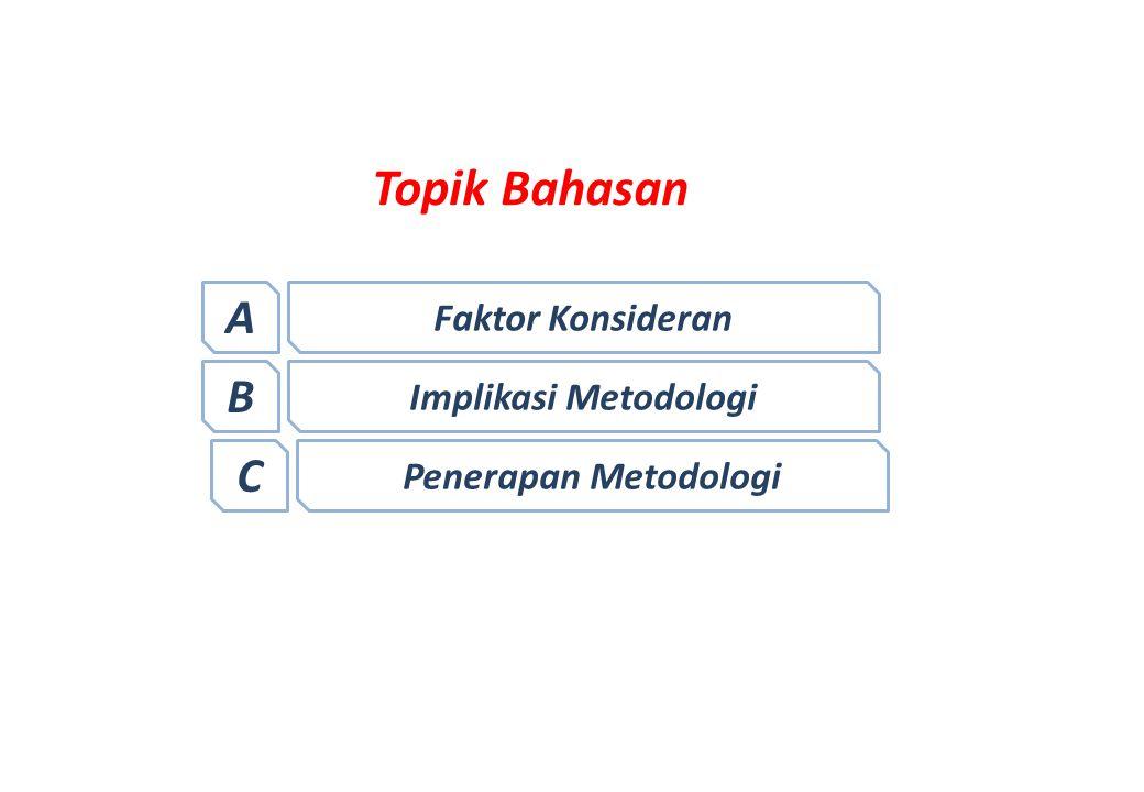 A Faktor Konsideran 1.Asumsi Metodologi 2.Mekanisme kerjasama