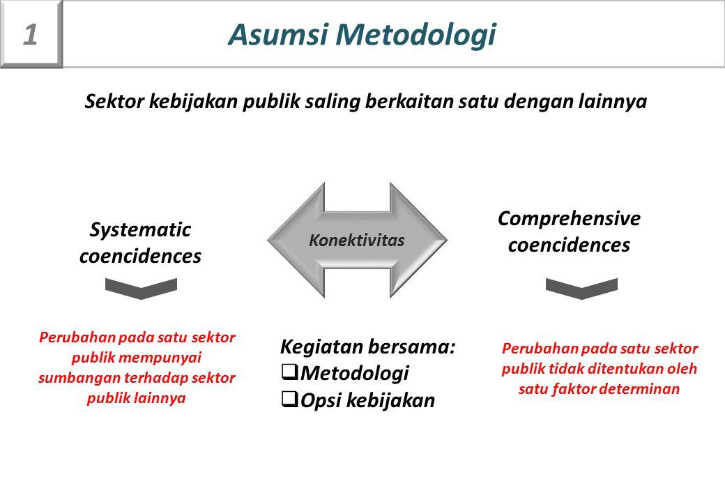Systematic coencidences Comprehensive coencidences Sektor kebijakan publik saling berkaitan satu dengan lainnya Konektivitas Kegiatan bersama:  Metod