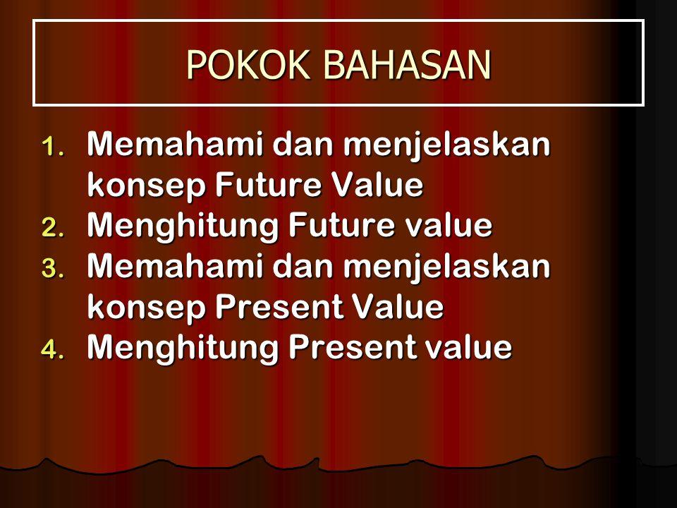 POKOK BAHASAN 1.Memahami dan menjelaskan konsep Future Value 2.