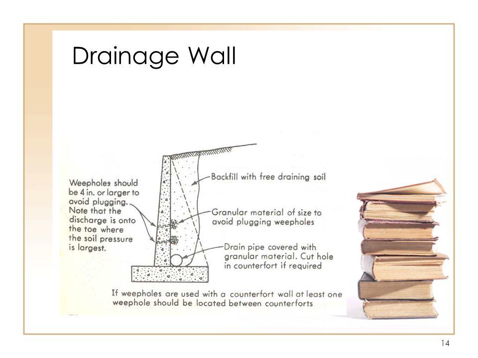 14 Drainage Wall