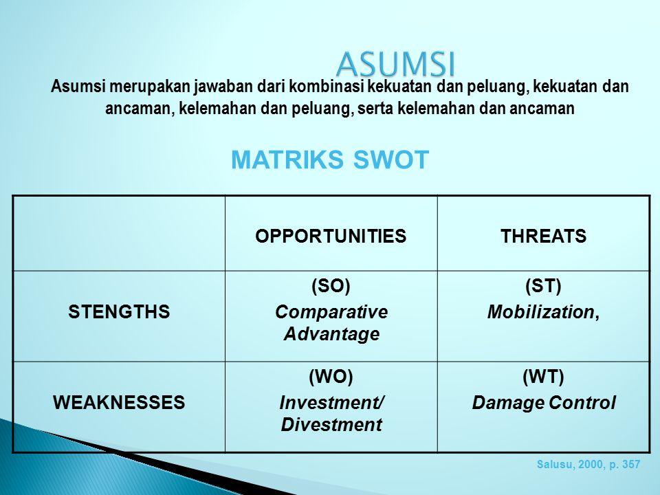 Lingkungan internal mencakup: 1. Sumberdaya manusia, ekonomi, informasi, kompetensi 2. Strategi yang disiapkan: menyeluruh, fungsional, bagian 3. Perf