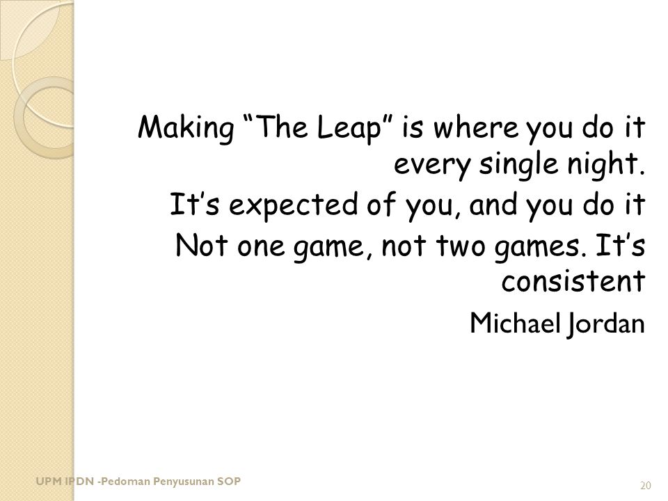 Making The Leap is where you do it every single night.