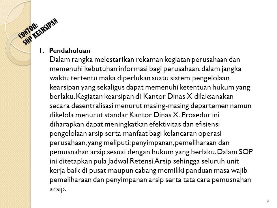 CONTOH: SOP KEARSIPAN 2.