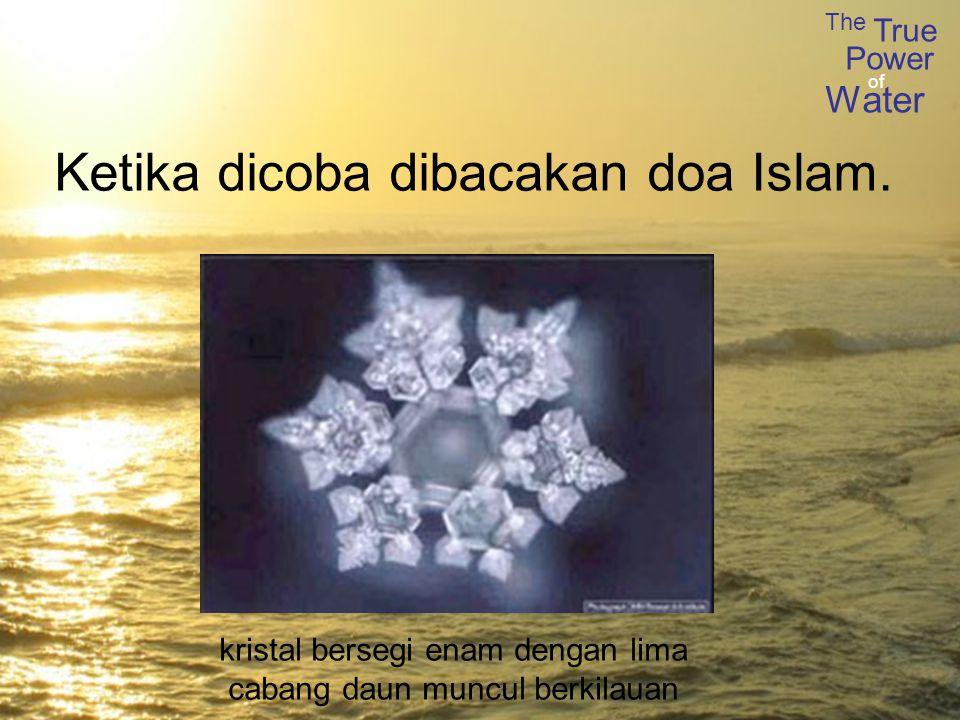 The True Power Water of Ketika dicoba dibacakan doa Islam.