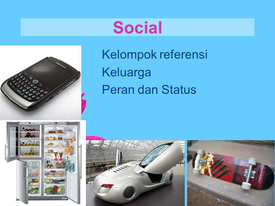 Social Kelompok referensi Keluarga Peran dan Status