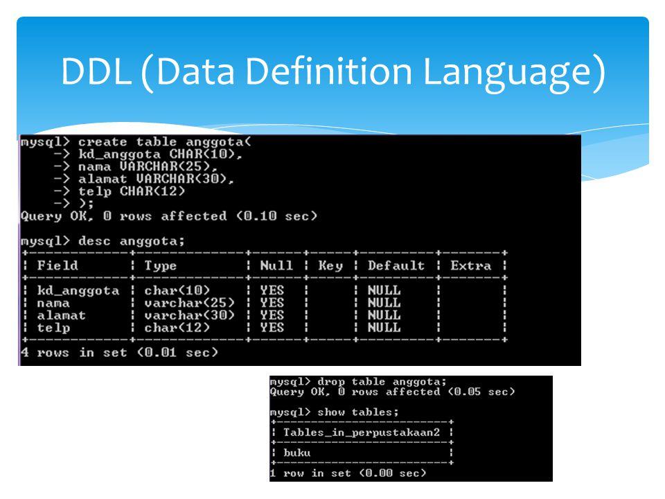  Memasukkan DATA pada TABEL  Dengan menyamakan kolom data INSERT