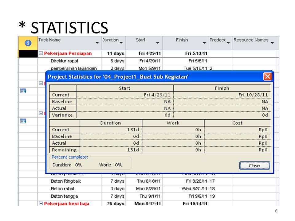 * STATISTICS 6