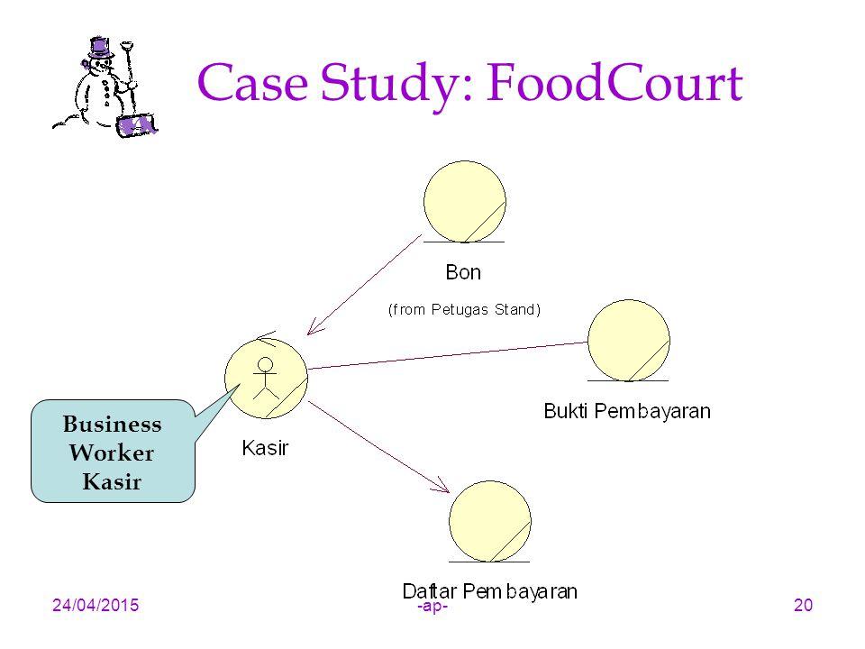 24/04/2015-ap-20 Case Study: FoodCourt Business Worker Kasir
