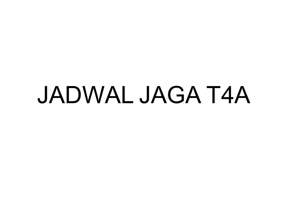 JADWAL JAGA T4A