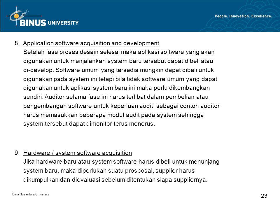 Bina Nusantara University 22 7.