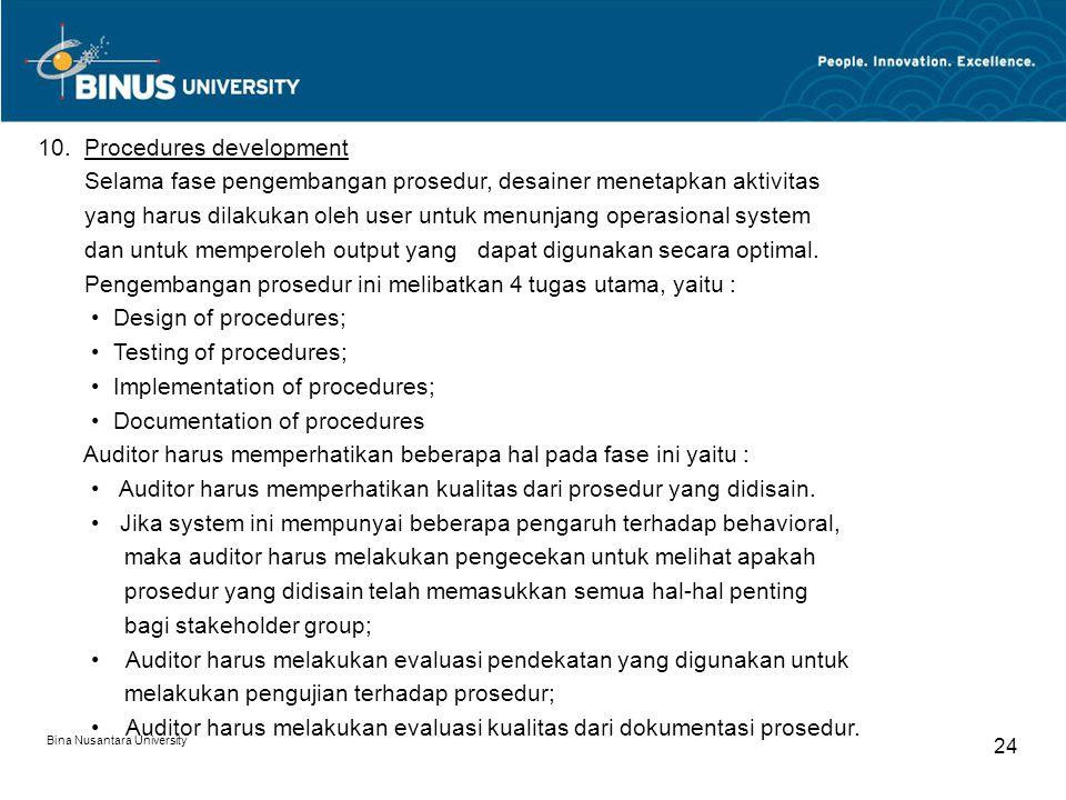 Bina Nusantara University 23 8.