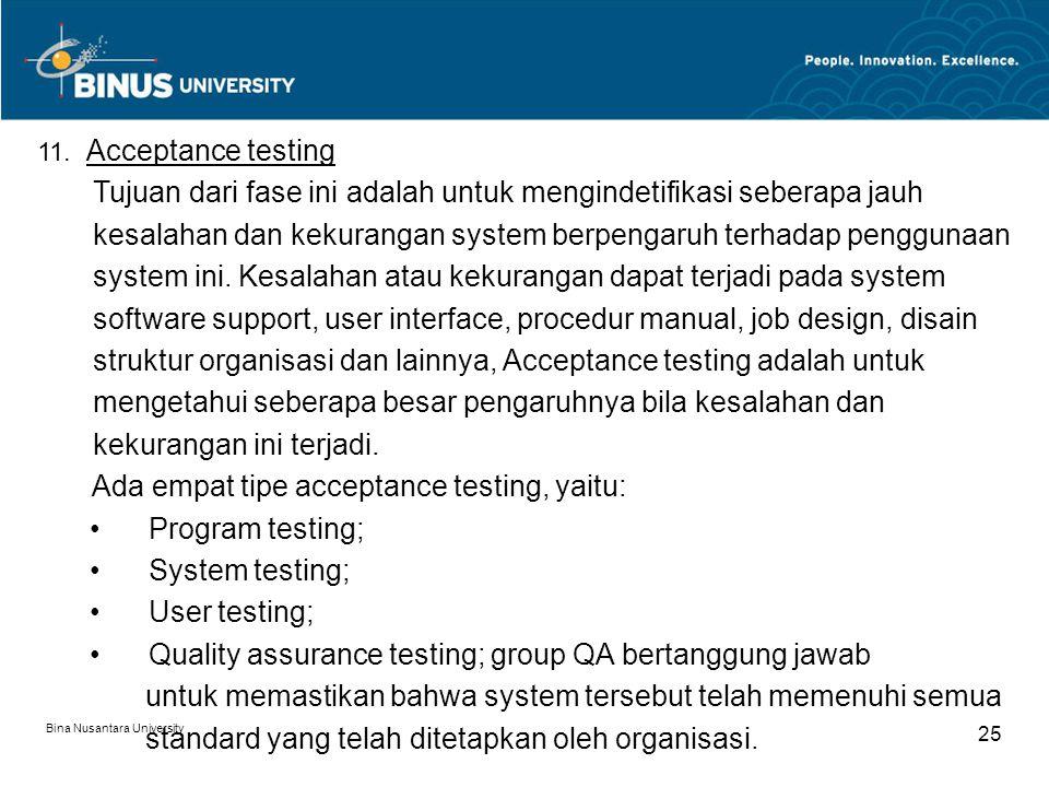 Bina Nusantara University 24 10.