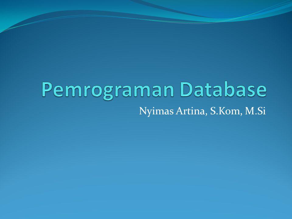 Stored Procedure merupakan struktur pemrograman yang cukup umum digunakan di dalam database administration dan development.