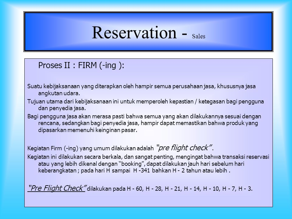 7 Reservation - Sales Tkt issueance - Read back Res.