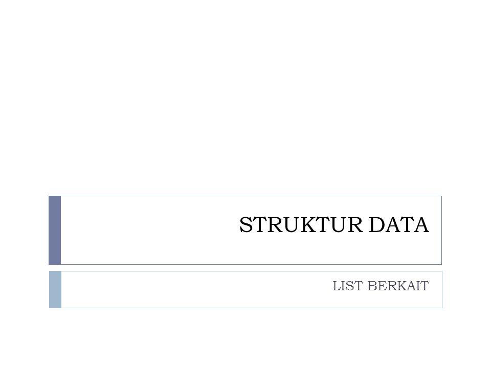 STRUKTUR DATA LIST BERKAIT