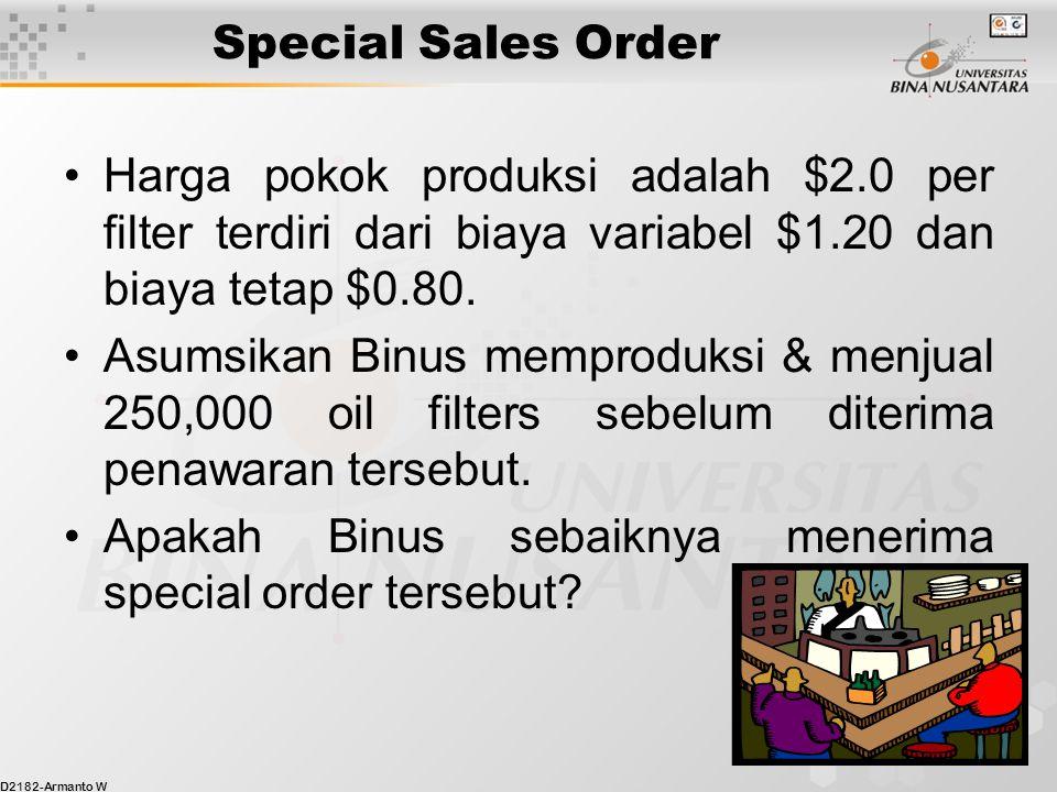 D2182-Armanto W 8 Special Sales Order Harga penawaran $1.77 memang lebih kecial dari harga pokok produksi $2.