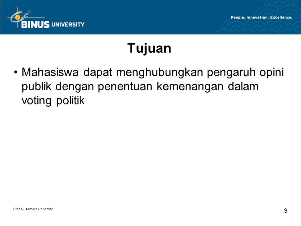 Materi Pengertian Voting Sistem Voting Konvensional Indonesia Ideologi dan Opini Partisan dan Opini Bina Nusantara University 4