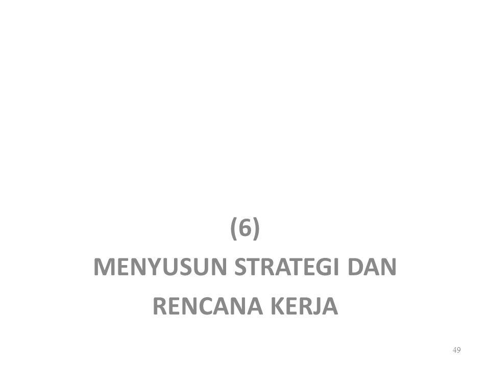 (6) MENYUSUN STRATEGI DAN RENCANA KERJA 49