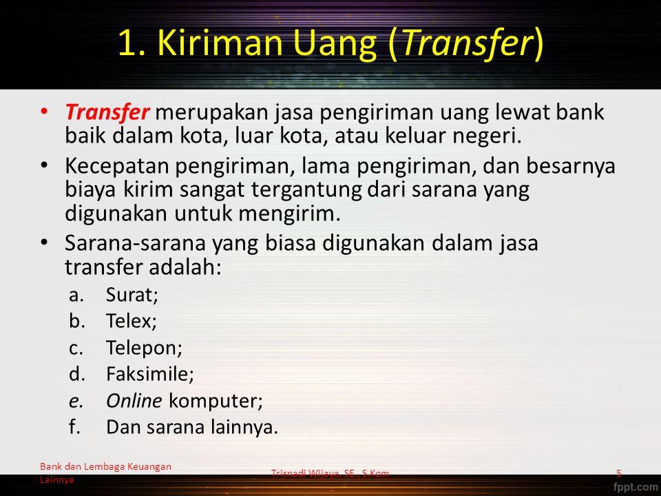 Mekanisme L/C Trisnadi Wijaya, SE., S.Kom26 Importir A Eksportir B Opening BankAdvising Bank 1 5 3 8 9 2 11 10 674 Bank dan Lembaga Keuangan Lainnya