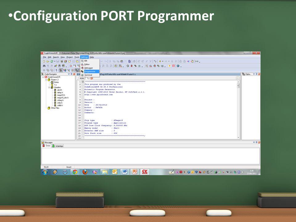 Configuration PORT Programmer
