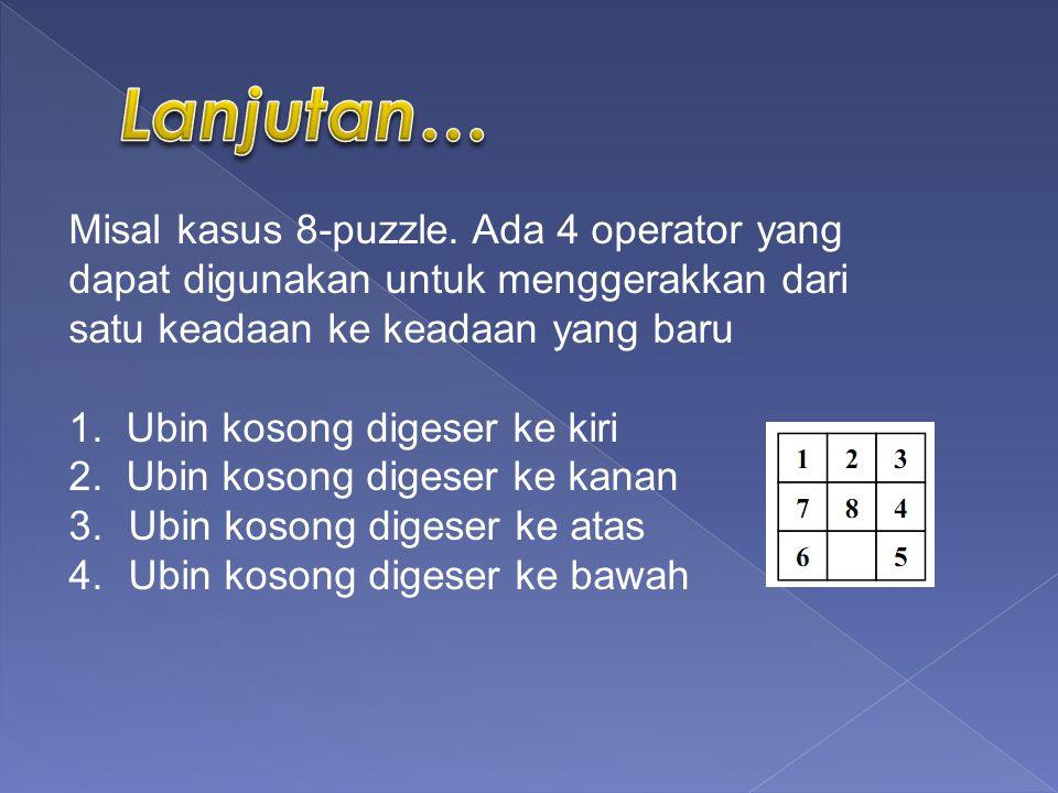 Misal kasus 8-puzzle.