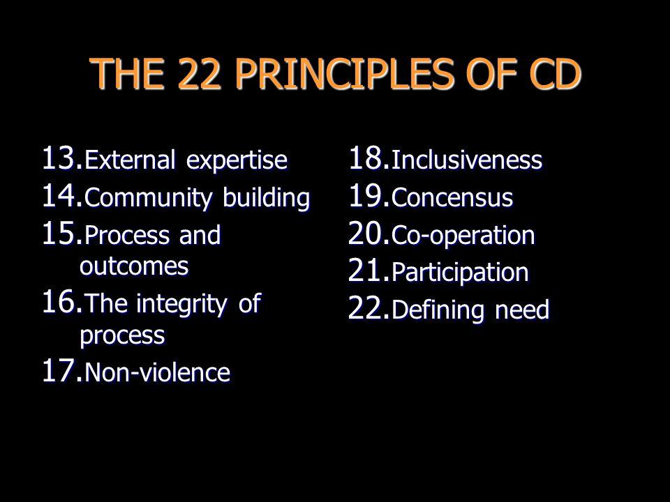 THE 22 PRINCIPLES OF CD 1.I ntegrated development 2.
