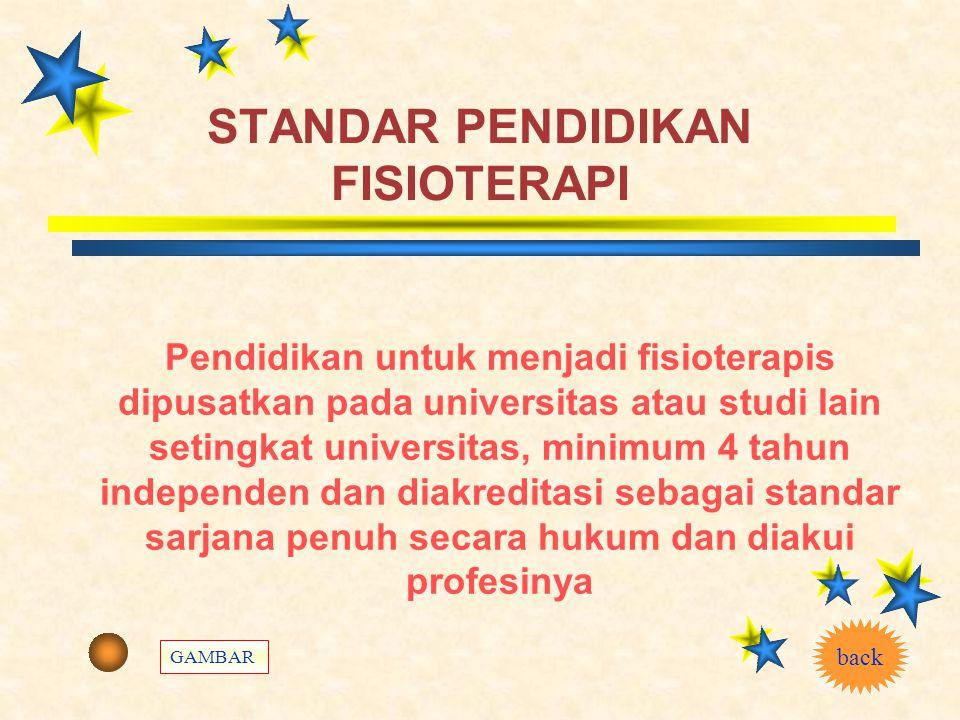 DESKRIPSI FISIOTERAPI INDONESIA  Fisioterapi adalah bentuk pelayanan kesehatan yang ditujukan kepada individu dan atau kelompok untuk mengembangkan,