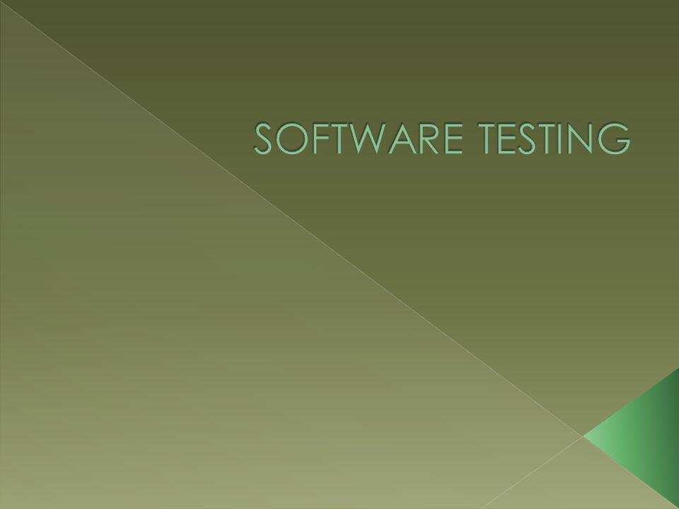  Menurut standar ANSI/IEEE 1059 Testing adalah proses menganalisa suatu entitas software untukmendeteksi perbedaan antara kondisi yang ada dengan kondisi yang diinginkan (defect/errors/bugs) dan mengevaluasi fitur-fitur dari entitas software