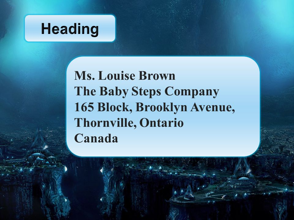 The Reference Ms. Louise Brown