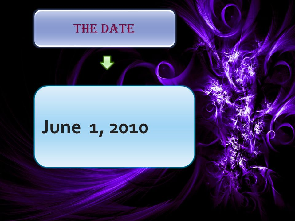 The Date June 1, 2010