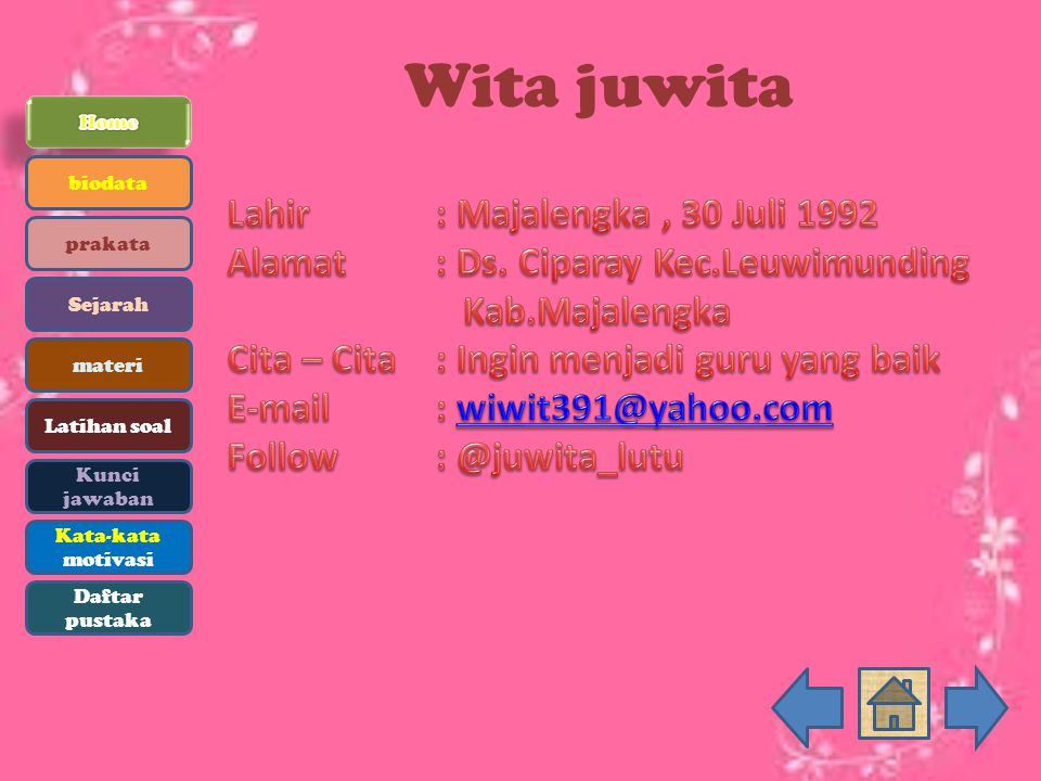 Wita juwita biodata prakata Sejarah materi Latihan soal Kunci jawaban Kata-kata motivasi Daftar pustaka