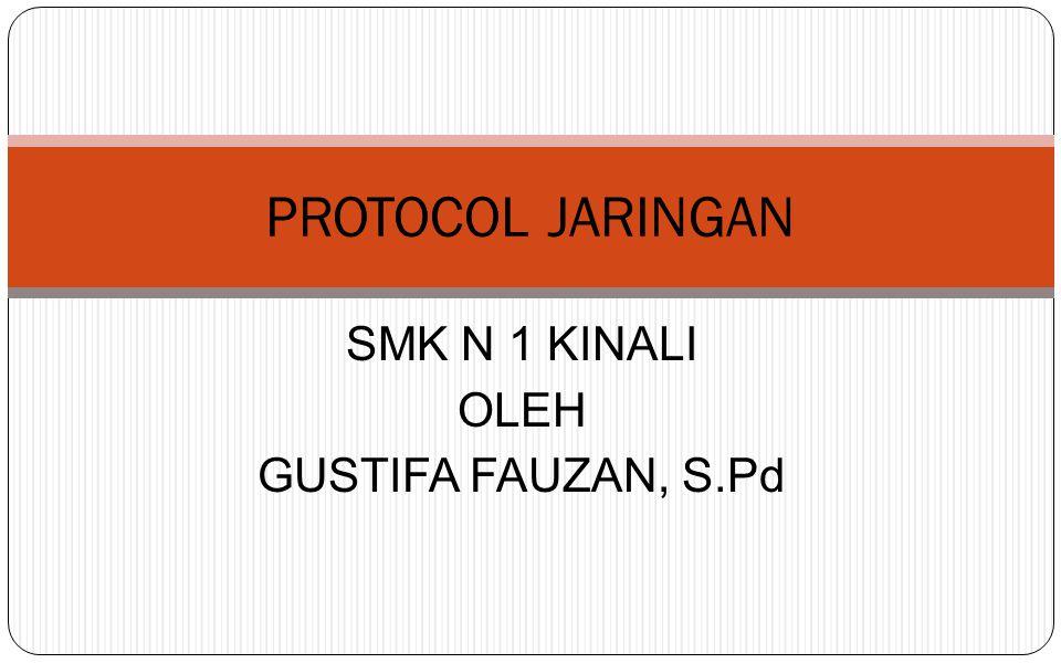 SMK N 1 KINALI OLEH GUSTIFA FAUZAN, S.Pd PROTOCOL JARINGAN