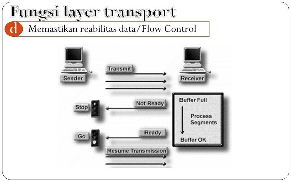 Memastikan reabilitas data/Flow Control d